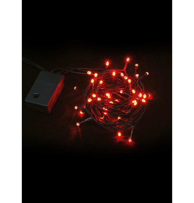guirnalda navidea con luces rojas multifuncin