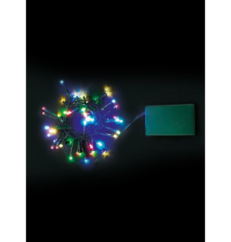 guirnalda navidea exterior de luces coloridas