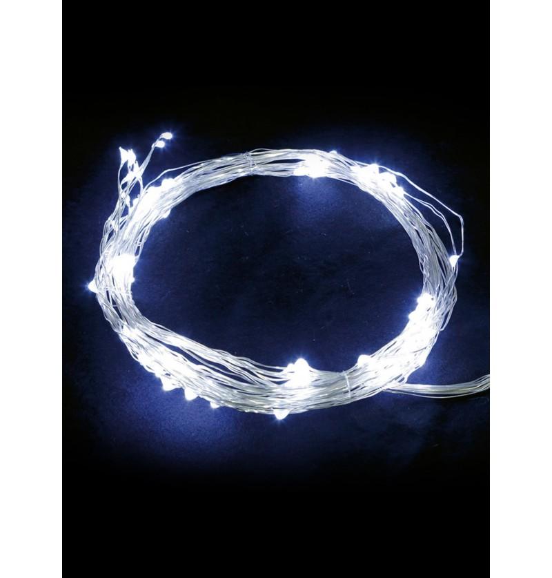 rama de luces navideas blanco hielo