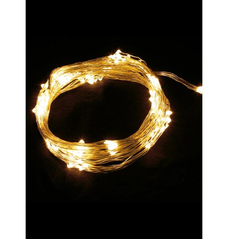 rama de luces navideas blanco clido