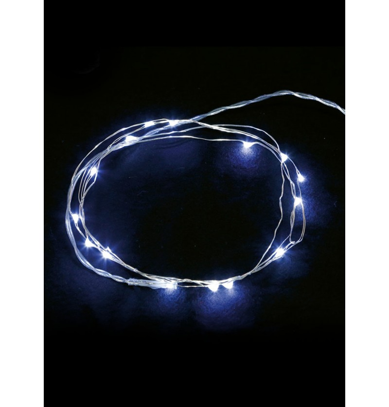 hilo luminoso blanco 50 led