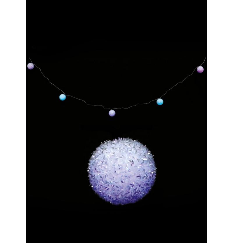 guirnalda navidea de bolas azules