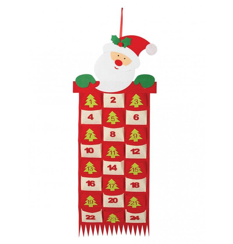 calendario navideo de pap noel