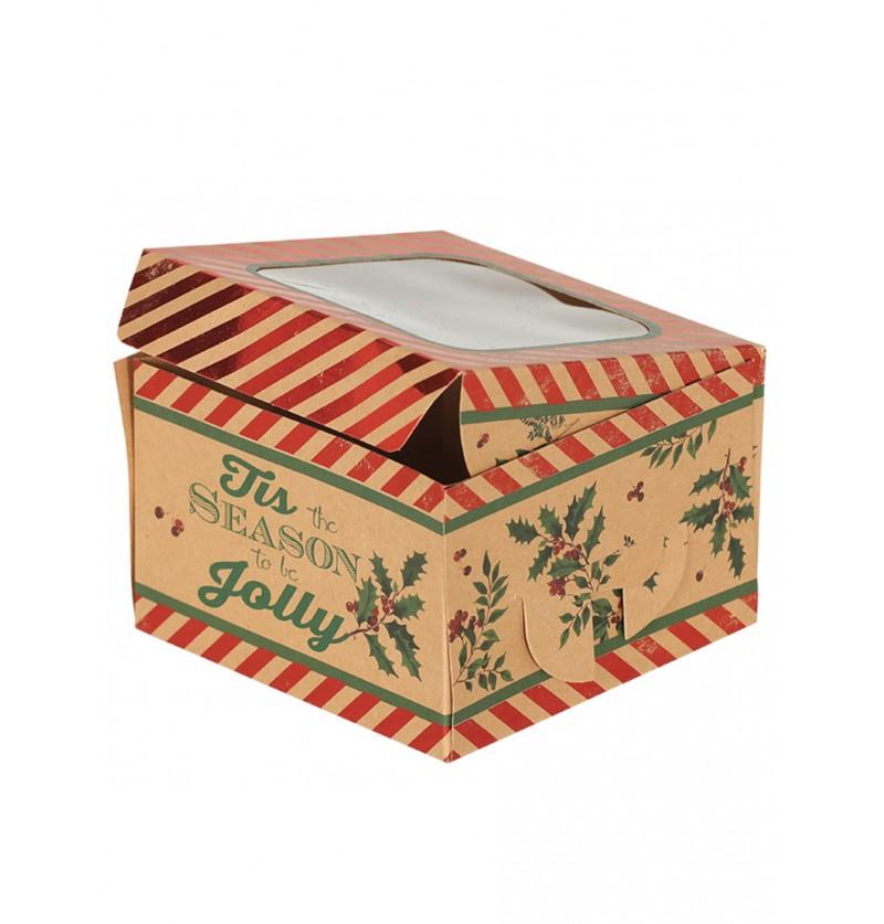 set de 3 cajas navideas rojas