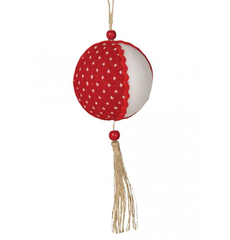 bola navidea roja y blanca
