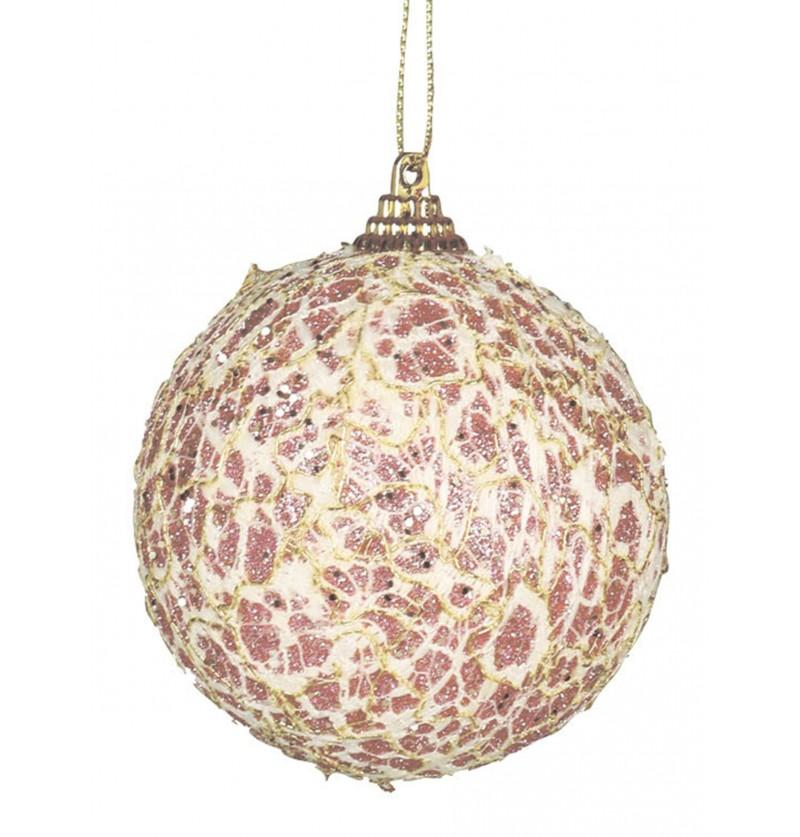 bola navidea rosa decorada