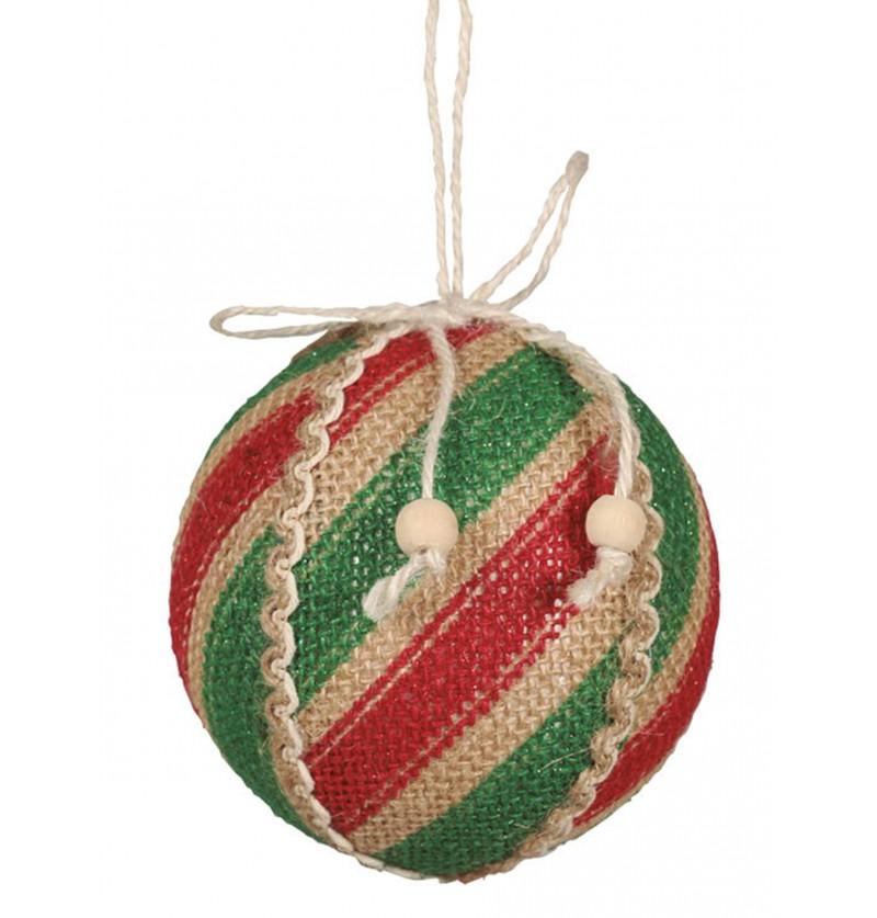 bola navidea rojo y verde