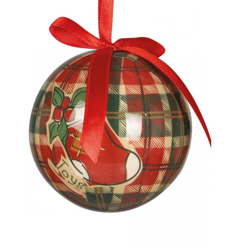 set de 6 bolas navideas decoradas
