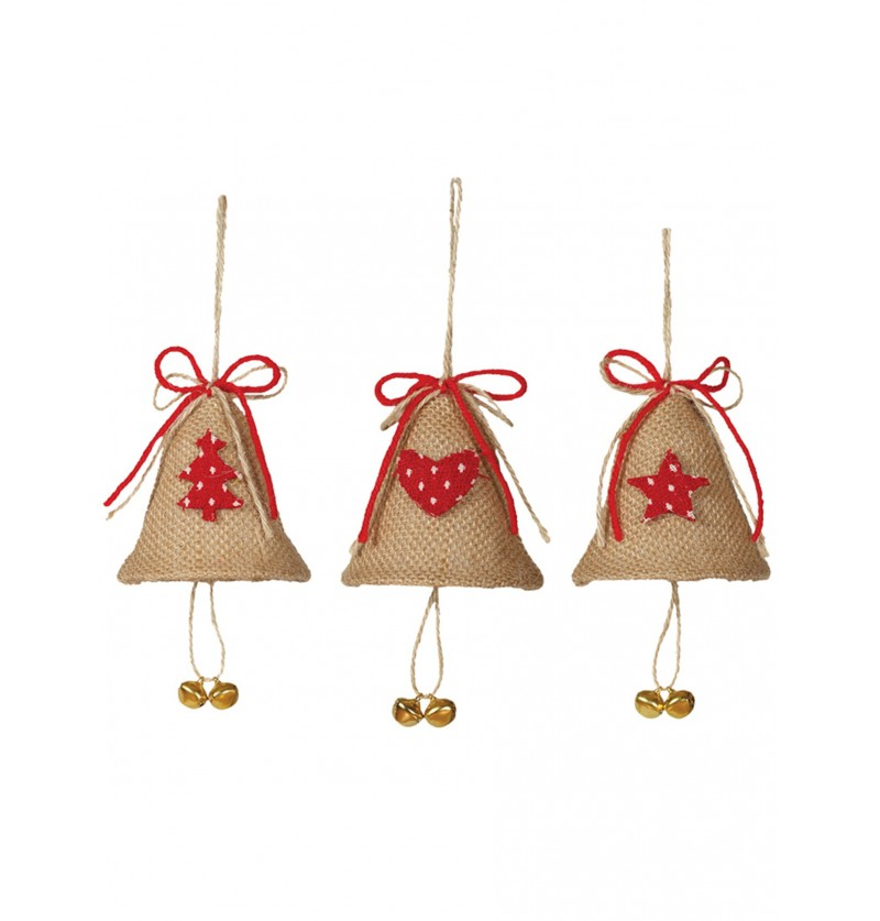 campanas navideas surtidas para el rbol