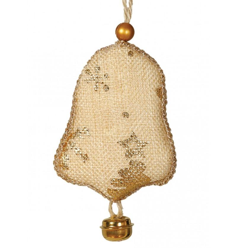 campana navidea con cascabel para el rbol