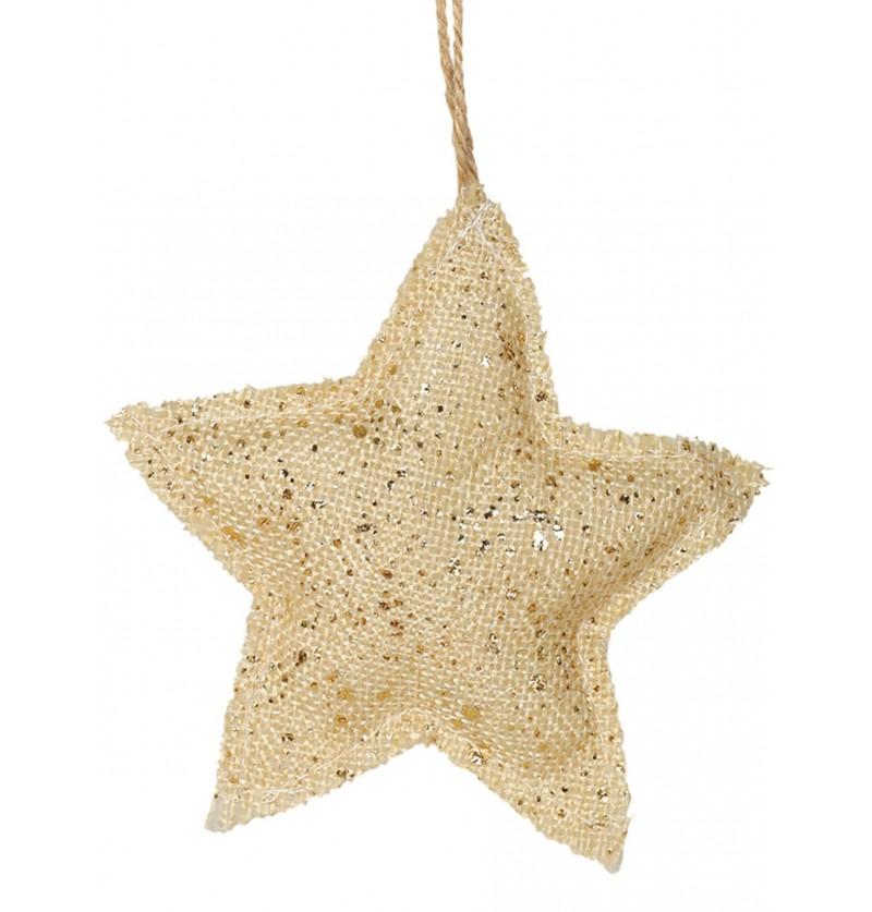 estrella navidea dorada para el rbol