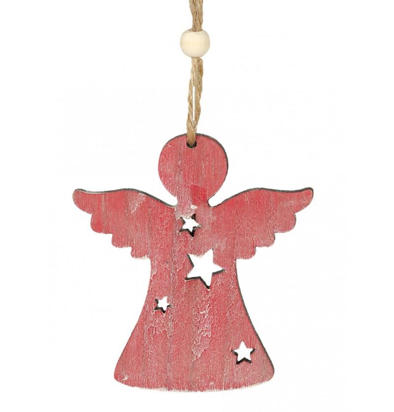 ngel navideo rosa para el rbol