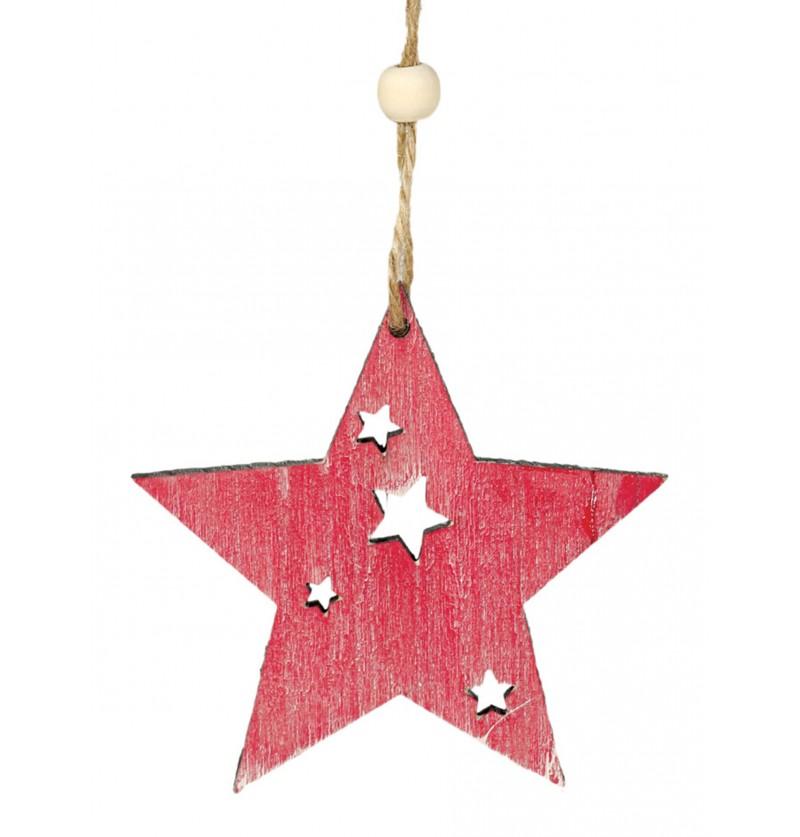 estrella navidea rosa para el rbol