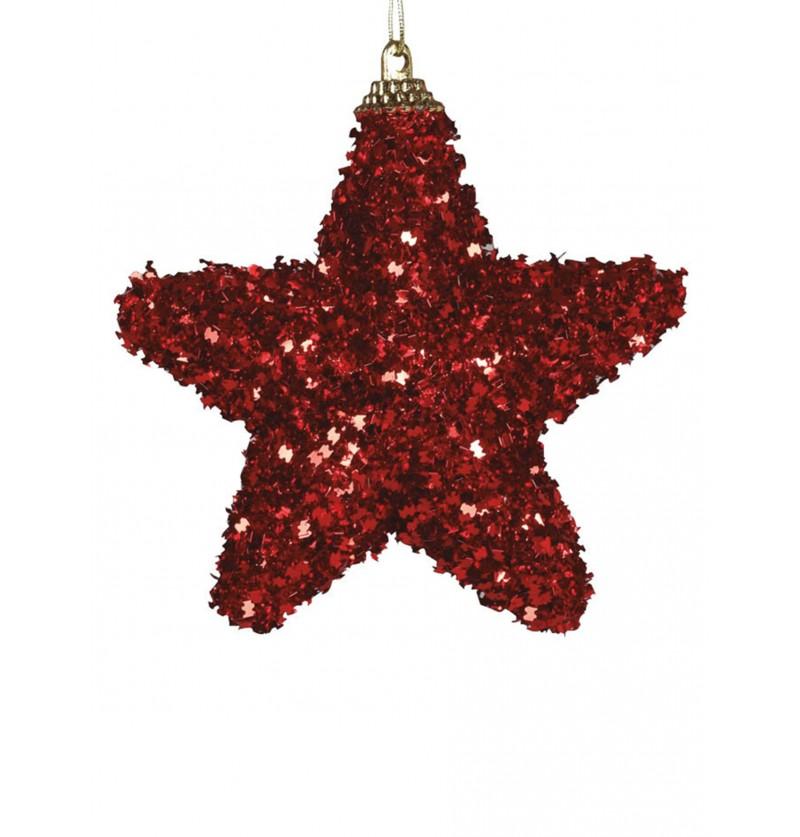 set de 3 estrellas navideas rojas para el rbol