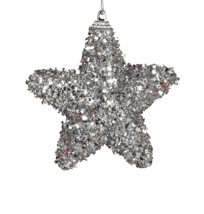 set de 3 estrellas navideas plateadas para el rbol