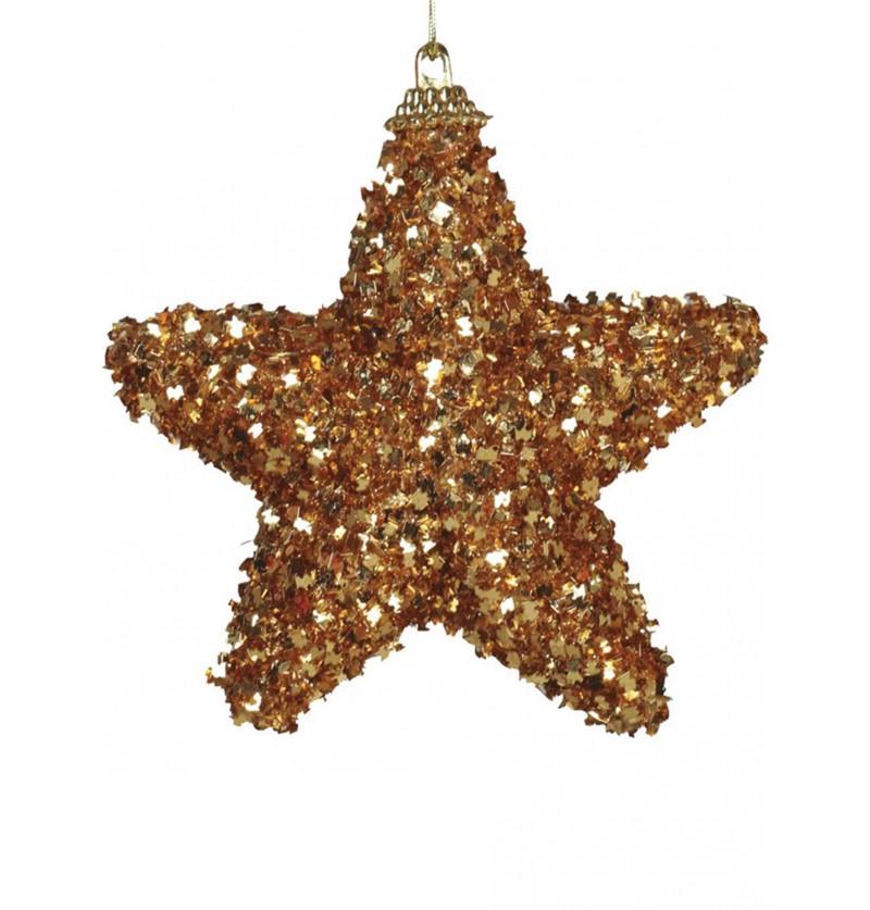 set de 3 estrellas navideas doradas para el rbol