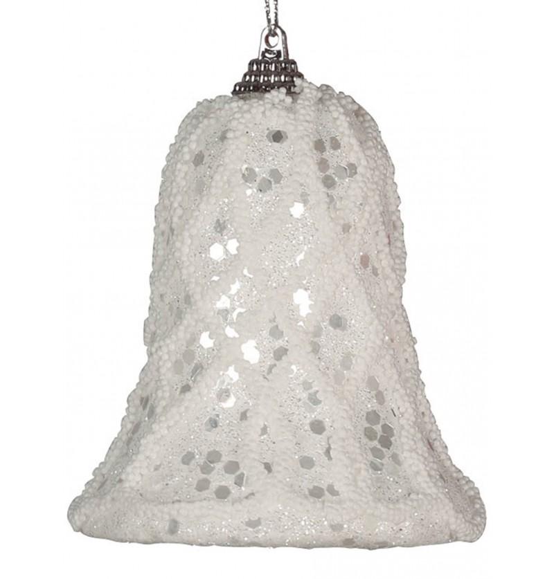 campana navidea blanca para el rbol