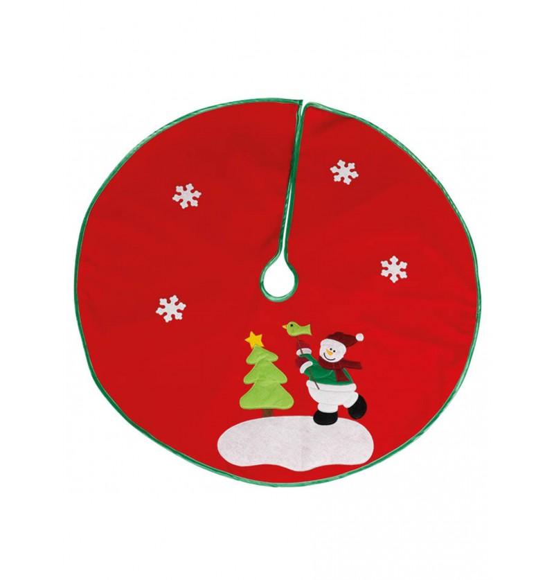 pie de rbol navideo verde con nieve