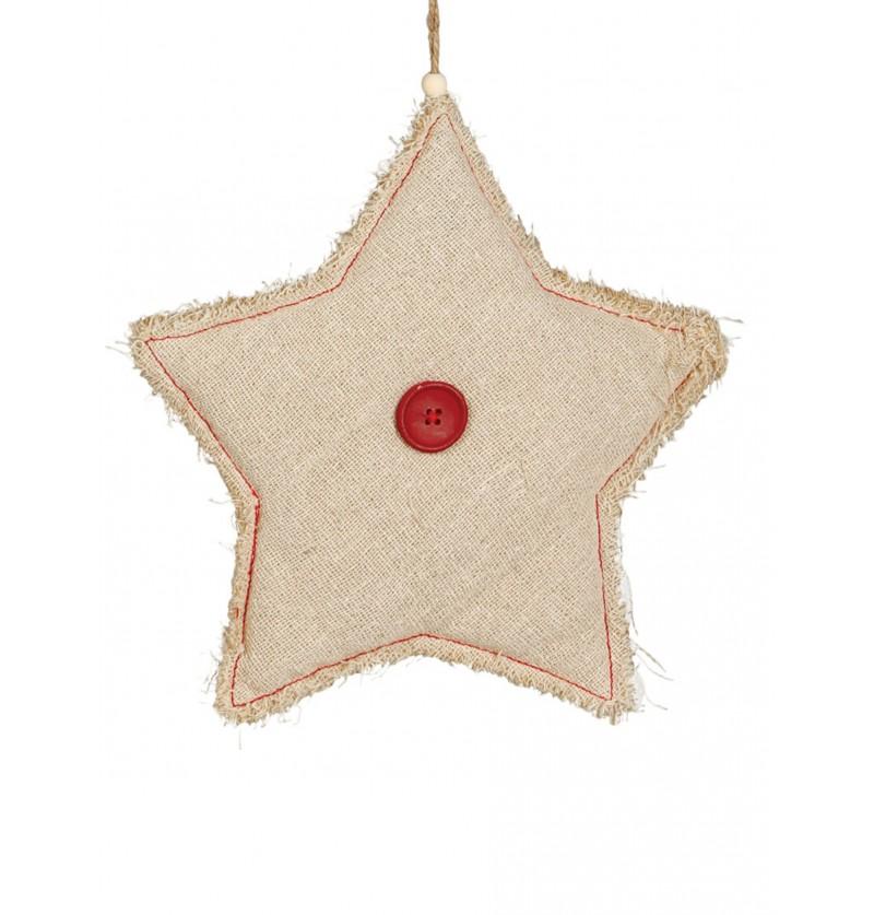 estrella navidea rstica grande para el rbol