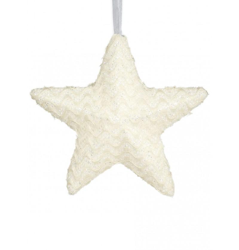 estrella navidea crema grande para el rbol