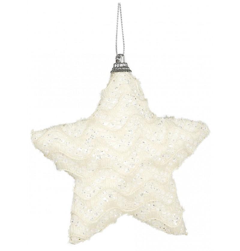 estrella navidea crema para el rbol