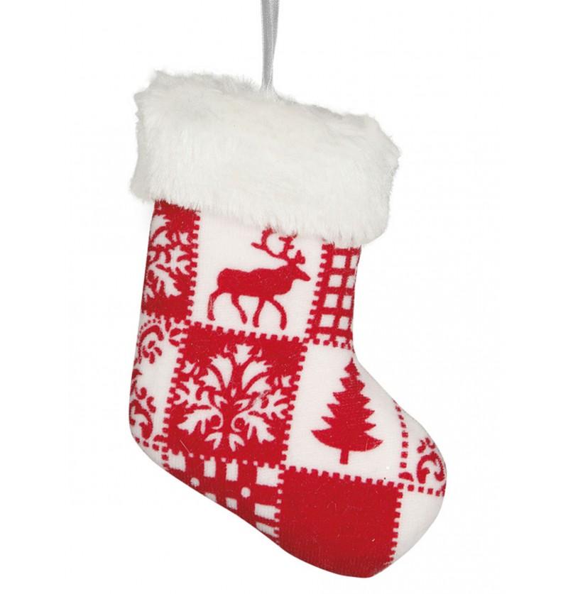 bota navidea decorada para el rbol