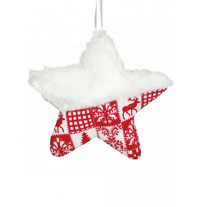 estrella navidea decorada grande para el rbol