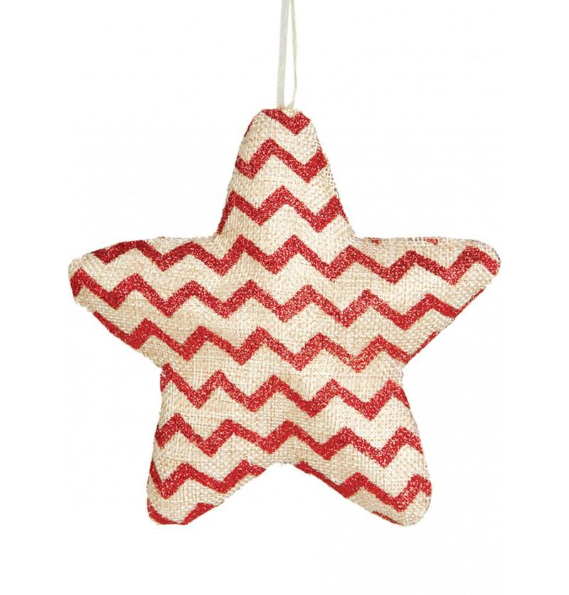 estrella navidea de rayas rojas para el rbol