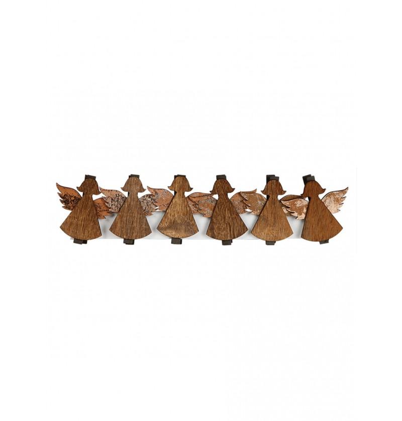 set de 6 ngeles navideos con pinzas para el rbol