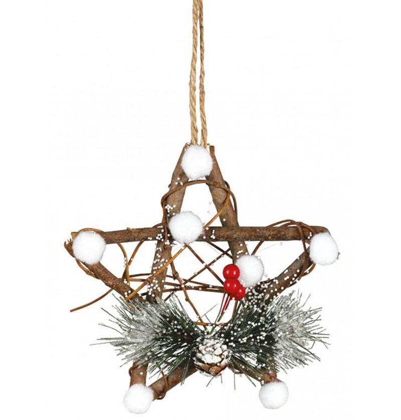 estrella navidea con murdago para el rbol