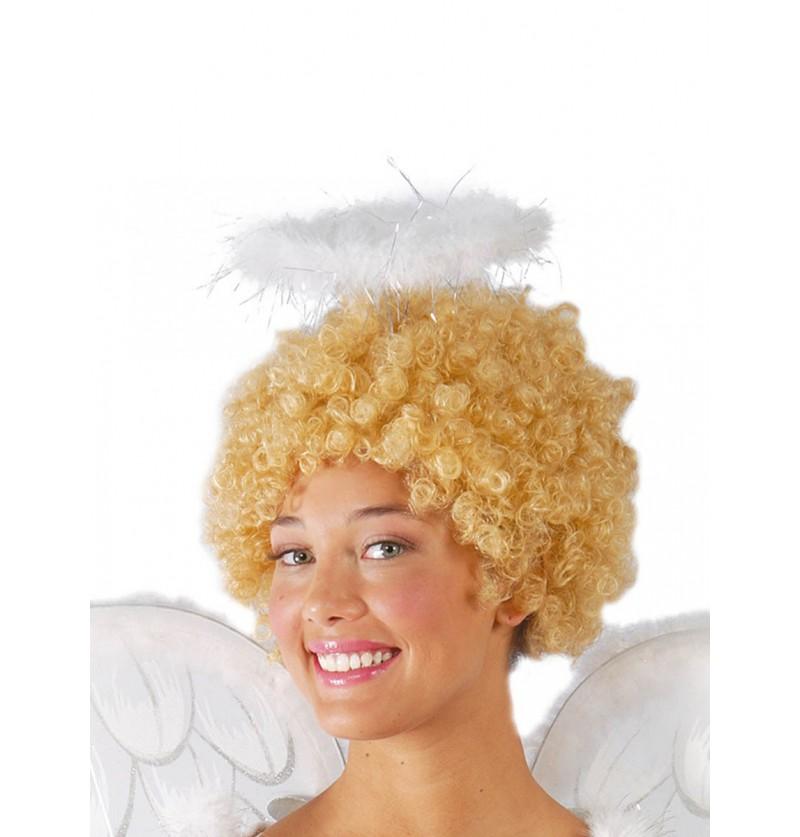 Diadema de ángel con plumas