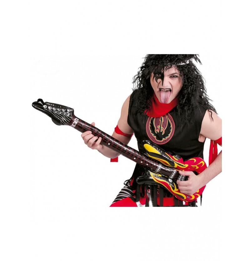 Guitarra con llamas hinchable