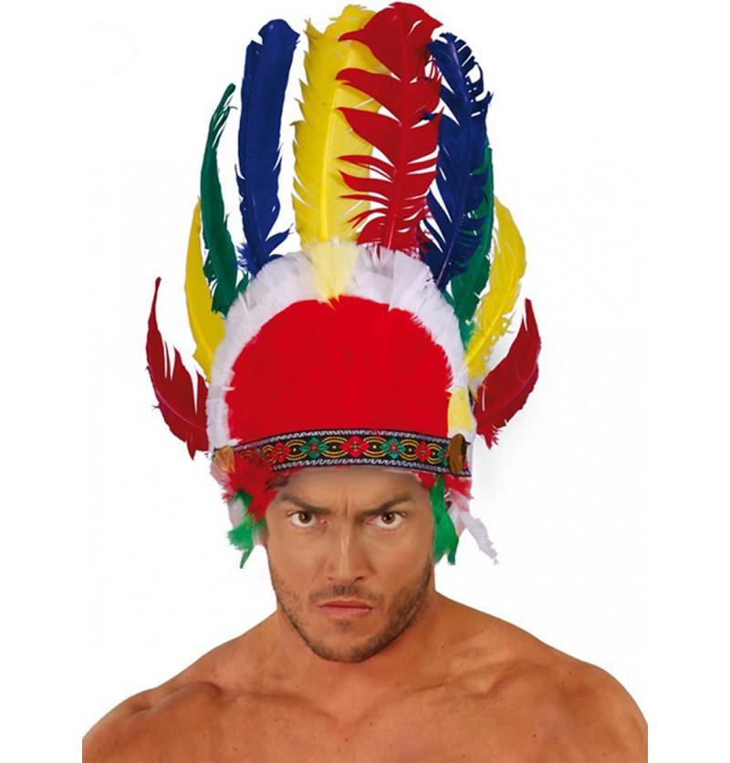 Penacho con plumas indio