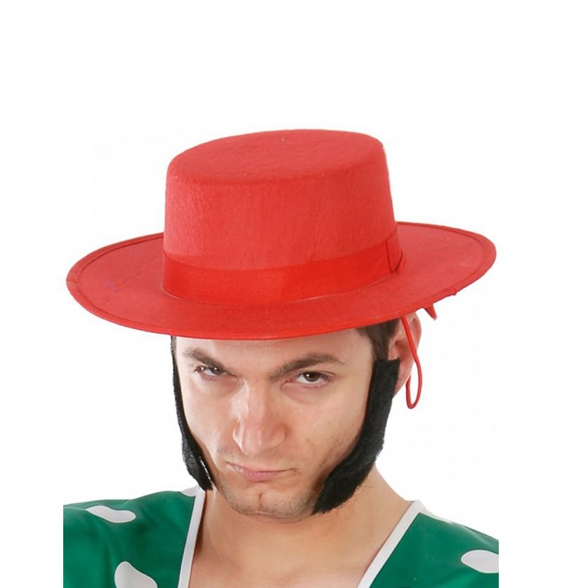 Sombrero cordobés de fieltro rojo