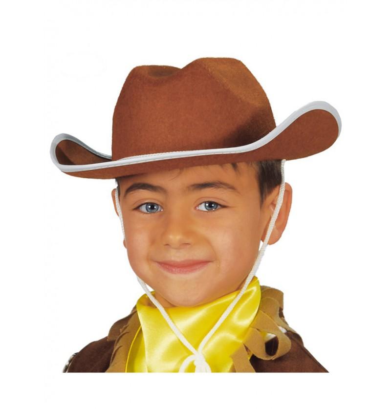 Sombrero vaquero infantil marrón
