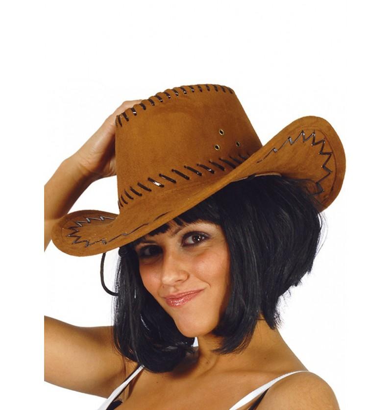 Sombrero de vaquero marrón piel