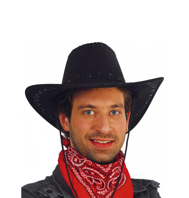 Sombrero de vaquero negro piel