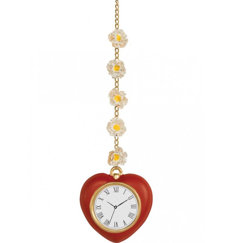 Reloj de corazón con margaritas