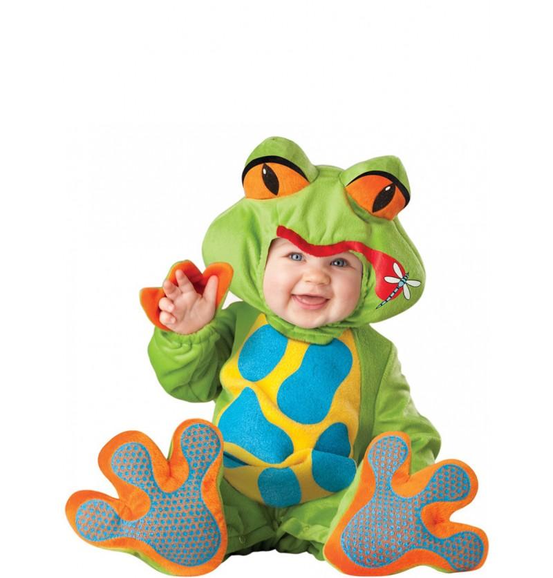 Disfraz de rana graciosa para bebé