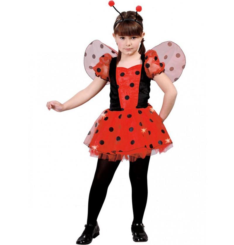 Disfraz de mariquita roja para niña