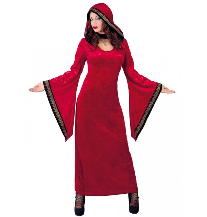 Disfraz de mujer satánica roja