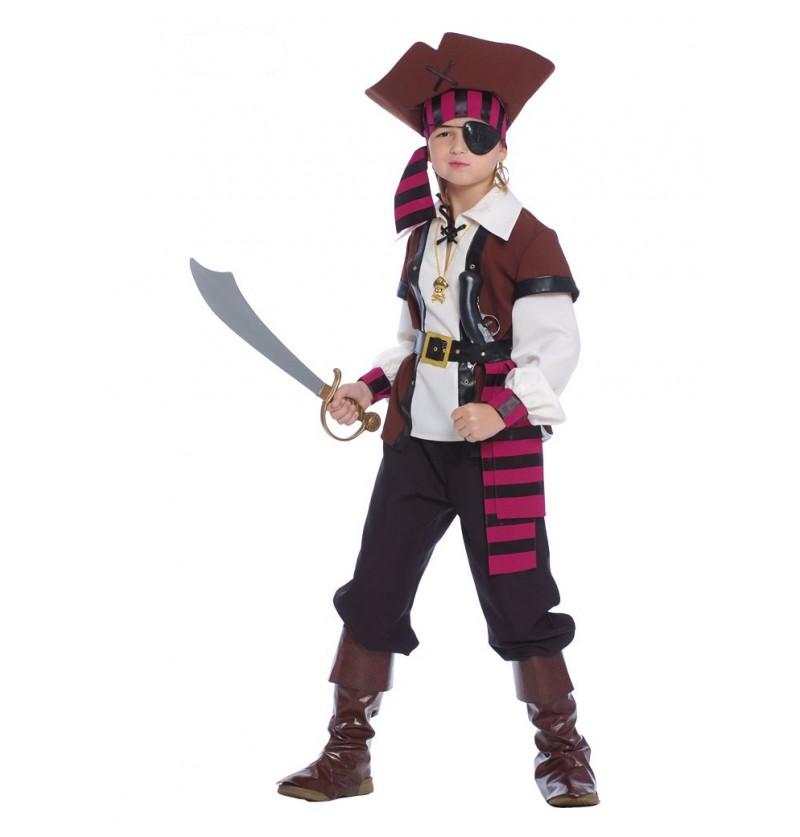 Disfraz de pirata de los 7 mares para niño