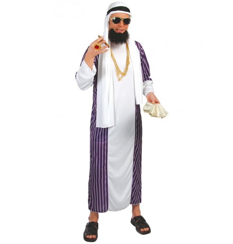Disfraz de árabe azul y blanco