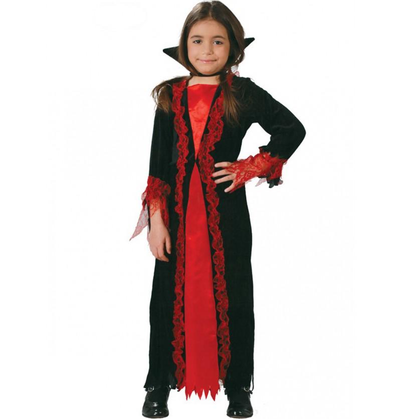Disfraz de pequeña vampiresa para niña