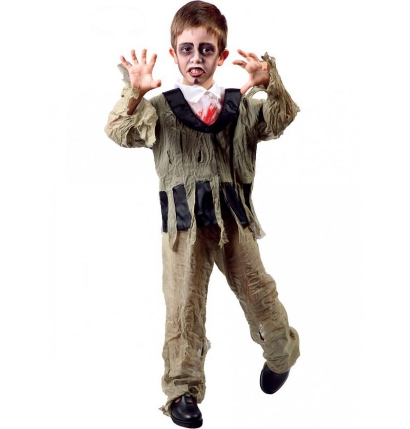 Disfraz de pequeño zombie sangriento
