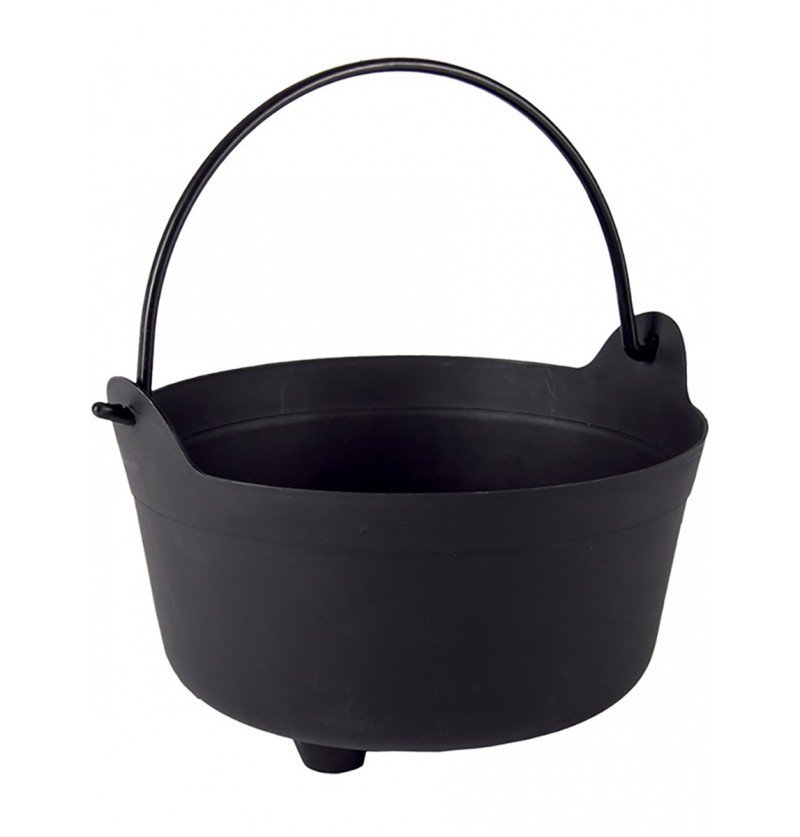 Caldero negro de bruja