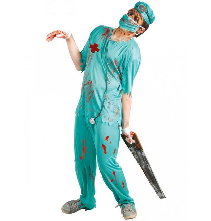 Disfraz de cirujano de quirófano zombie