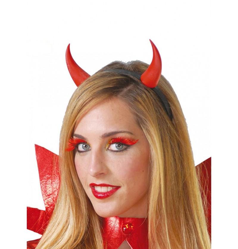 Diadema demonio cuernos rojos