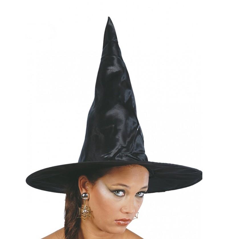 Sombrero de bruja negro de tela