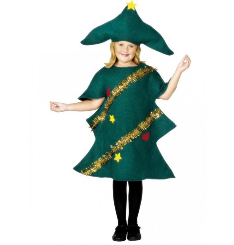 Disfraz de árbol navideño infantil